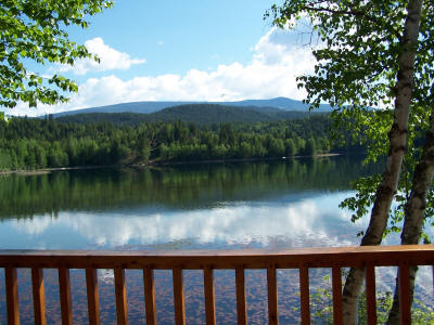 View of Dutch Lake from Moose Cabin Deck
